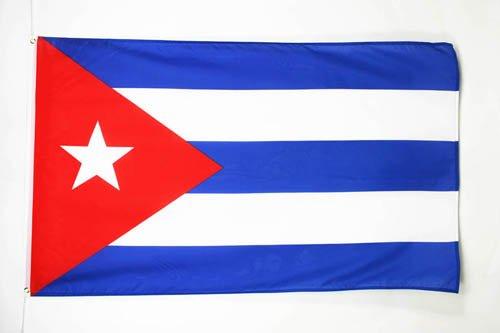 AZ FLAG Bandera de Cuba 150x90cm - Bandera Cubana 90 x 150 cm poliéster Ligero