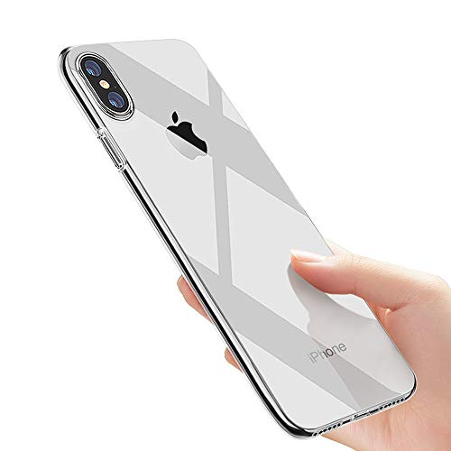laxikoo iPhone XS Hülle, iPhone X Handyhülle Crystal Schutzhülle iPhone XS Silikon Hülle Ultra Dünn TPU Bumper Case Anti-Scratch Stoßfest Soft Hülle für iPhone XS/iPhone X Case Cover, Transparent