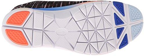 Nike Free 5.0 Tr Fit 4 Print, Chaussures de sports extérieurs femme Multicolore (Black/White/Hyper Cobalt/Bright Magenta)