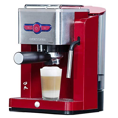 Oursson Kaffeemaschine, 19 Bar Espressomaschine, Espresso-Siebträgermaschine, Milchaufschäumer...