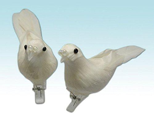 Givi Itali 11 cm Colombes avec perles et clip (Lot de 4, Taille unique)