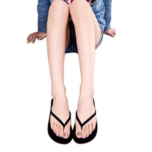 UOMOGO® Estate Moda Leggero Infradito Casuale Antiscivolo Spiaggia Sandali Pantofole per Donna (Asia 39, Nero)