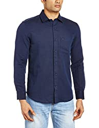 Proline Mens Casual Shirt (8907007298893_PS112_X-Large_Navy)