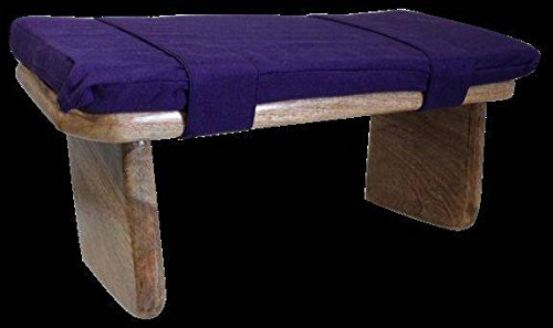 Gartenbank Meditation shoggi Meditationsbank mit Kissen violett kappok
