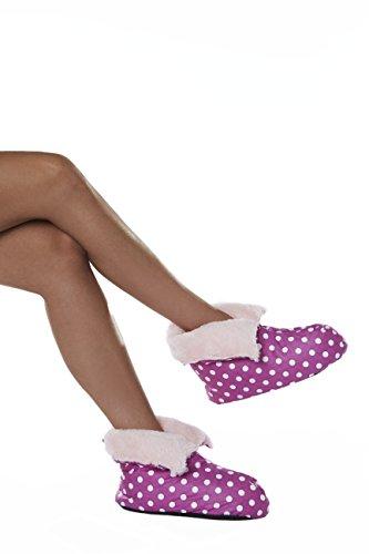 Intelex , Damen Hausschuhe One Size Purple with White Spots
