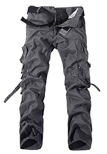 Panegy - Nuevo Pantalones Cargo Hombre Multibolsillos