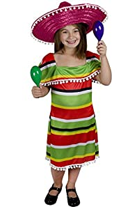 I Love Fancy Dress. ilfd7065 X L niñas vestido fiesta mexicana (XL)