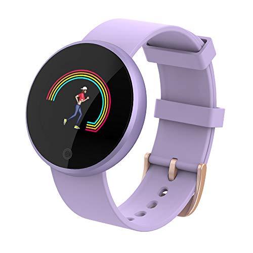 NZYBLTS Bluetooth Smartwatch IP67 Schwimmen Wasserdicht Fitness Tracker mit Pulsschlag Monitor Weiblich Physiologisch Smartwatch Smart Reminder Remote-Kamera zum Frauen,Lila