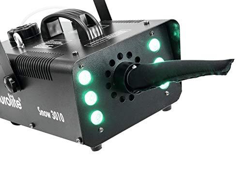 Eurolite Snow 3010 LED Hybrid Schneemaschine | Kraftvolle kleine LED-Hybrid-Schneemaschine | Speaker-schaum