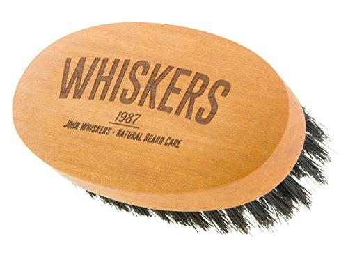 John Whiskers Bartbürste - Made in Germany - reine Wildschweinborsten - Härtegrad Medium - 90x50mm - Perfekte Bart - und Vollbart-Pflege