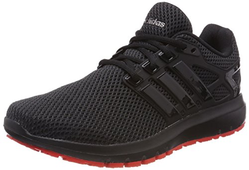 adidas Energy Cloud, Zapatillas de Running Para Hombre, Negro (Core Black/Core Black/Hi-Res Red 0), 42 2/3 EU
