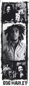 empireposter - Marley, Bob - Photo Collage Version 2 - Größe (cm), ca. 53x158 - Türposter, NEU -