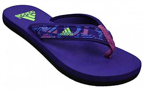 Adidas Beach Thong K CBLACK/FTWWHT/BLIPUR - 32