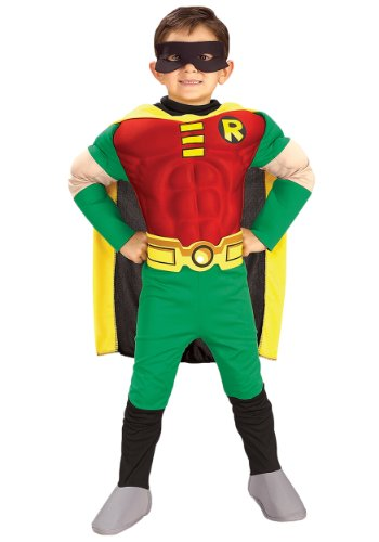 Batman Robin Deluxe Kostüm für Kinder, Größe:S