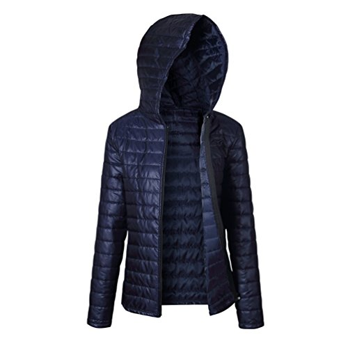 LINNUO Damen Daunenjacke Kapuzen Packbar Ultra Leicht Gewicht Daunenmantel Mit Reißverschluss Kurz Jacke