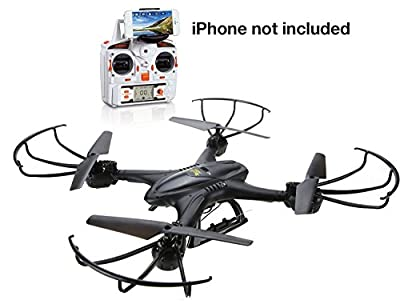 Holy Stone iPhone & Android in live coverage possible 2.4GHz 4CH 6-axis gyro domestic authenticated FPV real-time transmission drone camera with Japanese manual with mode freely convertible Allowed X400C (Black)