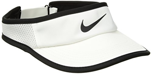 Nike Damen Court Aerobill Tennis-Schirmmütze, White/Black, One size