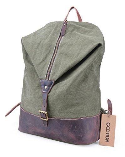 gootium-unisex-vintage-canvas-genuine-leather-backpack-rucksack-156-inch-laptop-bag-daypacks-army-gr