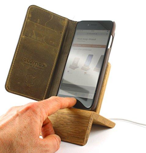 Das Original - Lambda iPhone Dock (Eiche) für iPhones ab Gen 5 (verwendbar mit und ohne Schutzhülle)