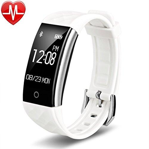 EFOSHM S2 Smart Armband Sport Fitness Tracker Herzfrequenz Sleep Qualität Monitor Call/SMS Reminder Wasserdicht IP67 Für Android iOS,weiß