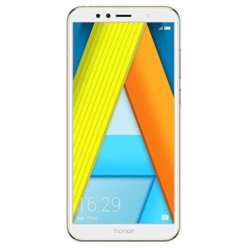 Honor 7A Smartphone débloqué 4G (Ecran : 5,7 pouces - 16 Go - Dual Nano-SIM - Android) Or [Version française]