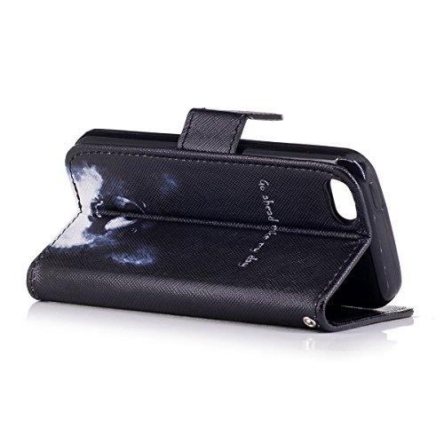 Custodia Cover iPhone 5C,Ukayfe Flip Cover Wallet Case Custodia per iPhone 5C in pelle PU,iPhone 5C Lussuosa Astuccio Custodia Cover [PU Leather] [Shock-Absorption] Protettiva Portafoglio Cover Custod Cane corgi 2#