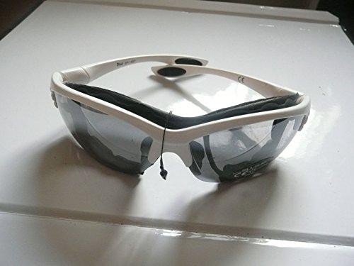 Weiß gerahmt Herren Sonnenbrille New