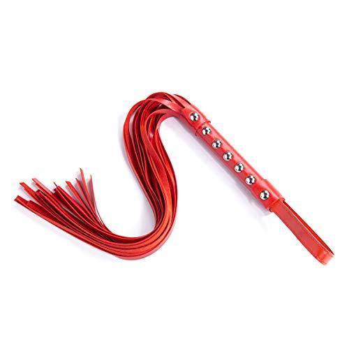 KEDCD Handschellen Sexspielzeug Sex Toys Beschlagene Lederpeitsche Tuning Flirten Peitsche Peitsche PU Leder Peitsche Kinder Spielzeug, Rot -