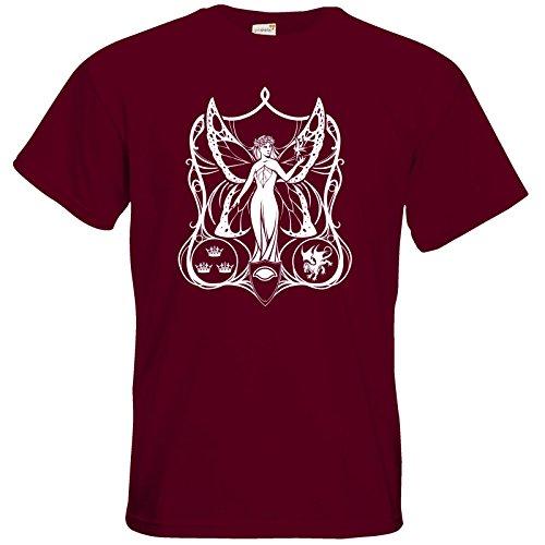 getshirts - Das Schwarze Auge - T-Shirt - Die Siebenwindküste - Coversymbol Burgundy