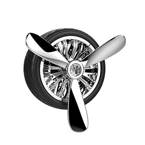LJSHU Deodorante per Auto, aromaterapia Diffusore di Olio Essenziale ABS Rotante Creativo Aria condizionata Presa Auto Riutilizzabile Deodorante Accessori Auto,Argento