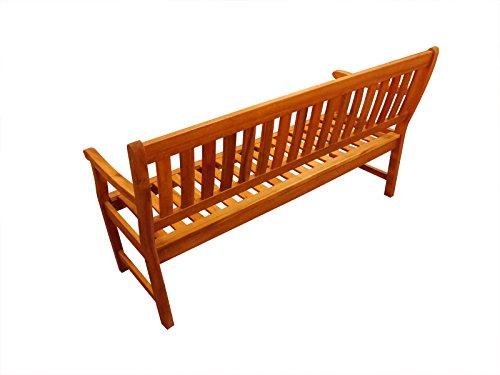 SAM® Akazie-Sitzbank New Jersey, massive Gartenbank für bis zu 3 Personen, Holzbank mit Armlehnen ideal für Garten Terrasse Balkon und Wintergarten, FSC® 100% zertifiziert - 3