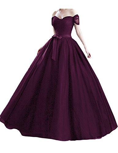 Stillluxury Damen Ballon Kleid Gr. 42, Grape -