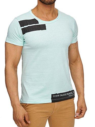 Tazzio T-Shirt Herren Shirt kurzarm Prints Rundkragen Rundhals Used Look Mint