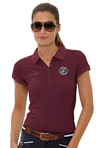 SPOOKS Poloshirt Damen Mädchen Kinder, Polo Shirt tailliert Sommer Tshirt Hemd Sport - Damenpoloshirts Kurzarm Viktoria - Bordeaux m - Frauen Polo-shirts
