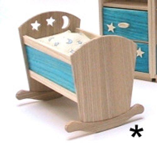 Liebe HANDARBEIT 46076 Culla con Federe letto Frassino 1:12 per casa delle bambole