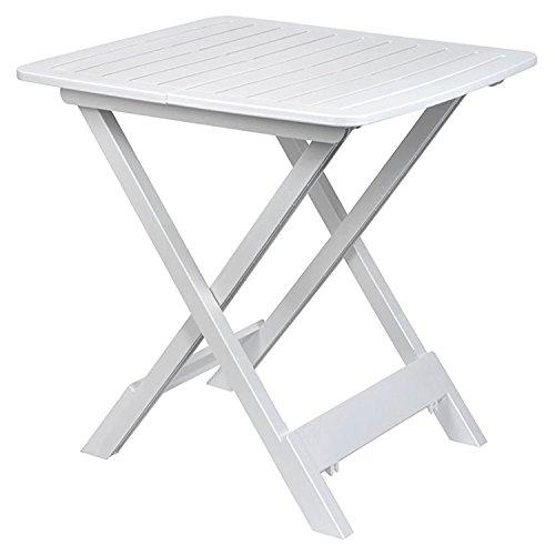 Mojawo  Kunststoff Campingtisch Klapptisch Beistelltisch Gartentisch Camping Reisetisch Weiß 80x72x70 cm - Höhe Klapptisch