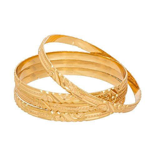 The Luxor Gold Plated Designer Daily Wear Bangles Set for Women (2.8)
