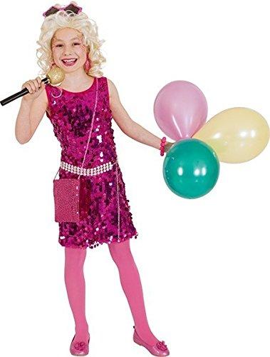 Kinder Kostüm Pop Star Paillettenkleid Karneval Fasching (Star Kind Kostüme)