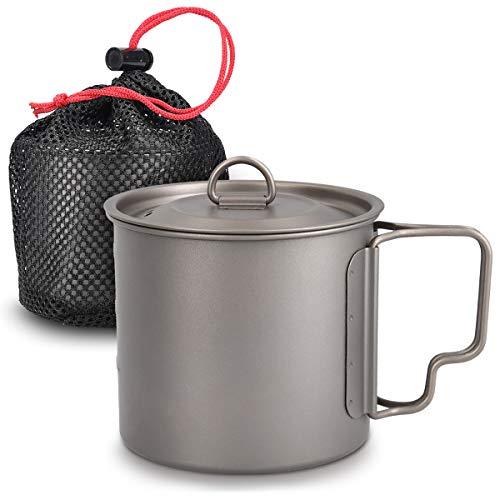 Navaris Taza de Titanio de 600ML - Taza para Bebidas frías y Calientes - Taza para Camping Ligera ...