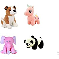Mahi Toys Combo of 4 (Unicorn ,Bulldog, Baby Panda, Elephant) Soft and Stuffed Teddy Bear, Especially for Girls/Kids…