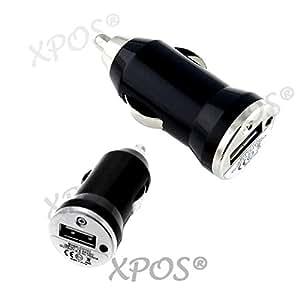 PACK DE 1 Microsoft Nokia 222 : CHARGEUR VOITURE ADAPTATEUR ALLUME CIGARE USB NOIR POUR Microsoft Nokia 222 XPOS®