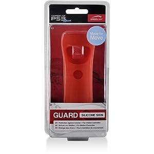Speedlink Guard Silikon Schutzhülle für den Playstation 3/PS3 Move Motion und Navigation Controller, rot