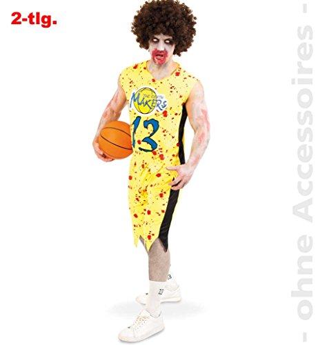 Zombie Basketball-Spieler Kostüm, Oberteil und Shorts, blutige Flecken Halloween Horror Karneval *NEU bei Pibivibi© (X-Large) (Zombie Basketball Spieler Kostüm)