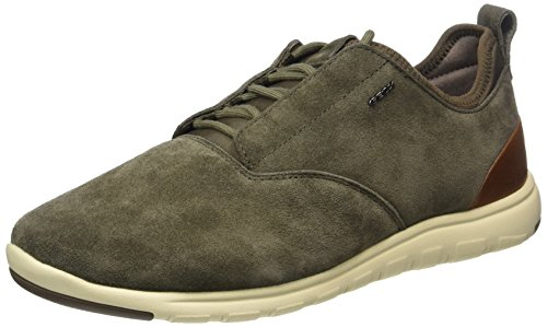 Geox U Xunday 2fit A, Sneakers Basses Homme Marron (Dk Taupe)