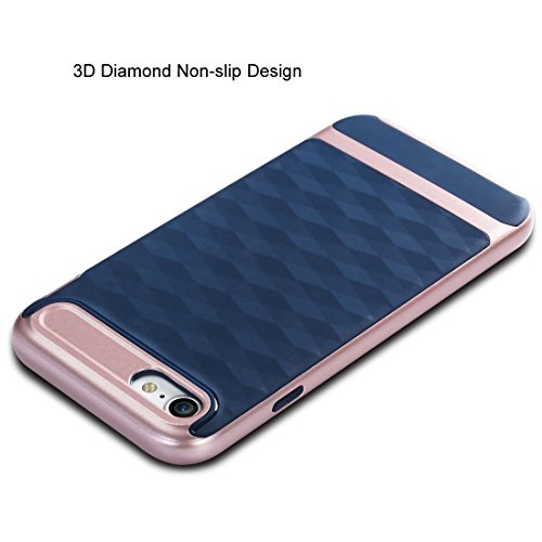 Wkae 3D Diamond PC + TPU Kombination Schutzhülle für iPhone 7 ( SKU : Ip7g2880gs ) Ip7g2880ej