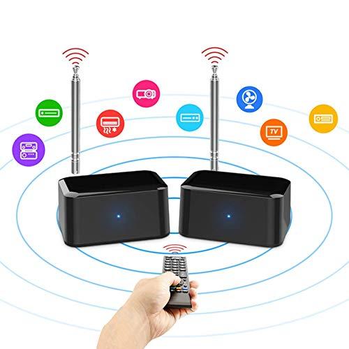 EMEBAY - PAKITE IR Remote Extender, Ripetitore IR, prolunga a infrarossi per estensione con 1 ricevitore e trasmettitore di alimentazione USB alimentato a batteria 1080P