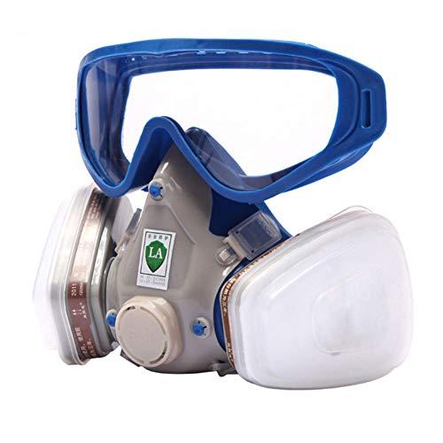 Máscara de goma con cara completa para gas y gafas a prueba de polvo