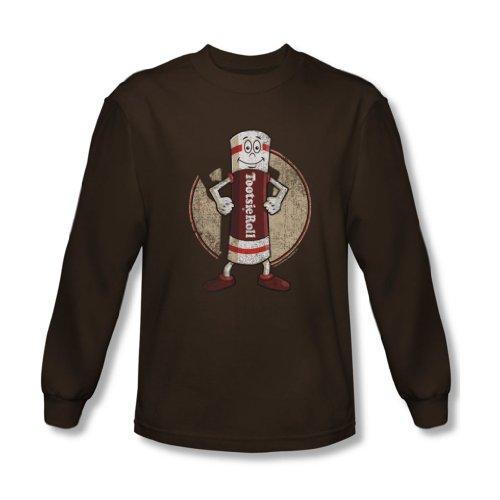 Tootsie Roll - Herren Tootsie Man Long Sleeve Shirt In Coffee Coffee