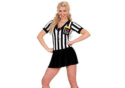 Party Kostüm Ideen Sport Motto (Widmann 76902 - Kostüm Schiedsrichterin, weiß Ÿ/ schwarz, Größe)