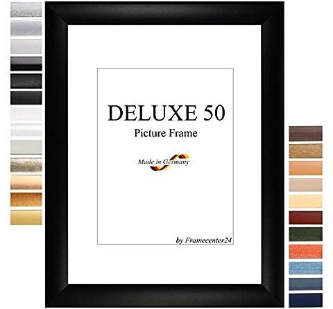 Cadre de Photo d'image DELUXE50 80x120 cm ou 120x80 cm in NOIR avec Anti-reflet verre artificielle et le mdf panneau arrière, 50 mm baguettes d'encadrement MDF et feuille décorative entièrement